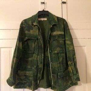 Camo Seize The Day Jacket - Free People - S